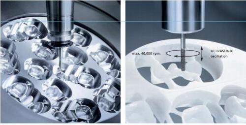 Detailný grafický náčrt frézovania stroja Ultrasonic.