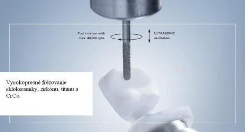 Grafický náčrt frézovania stroja Ultrasonic.